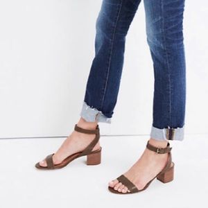 Madewell Alice Sandal in Python Texture